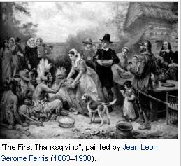"""The First Thanksgiving"", painted by Jean Leon Gerome Ferris (1863–1930)./wikipedia.org/"